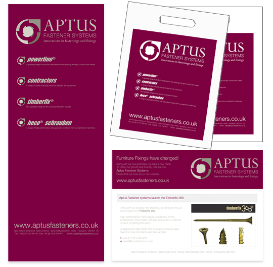 Aptus exhibition goodies