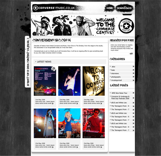 Converse launches the all-new conversemusic.com site...